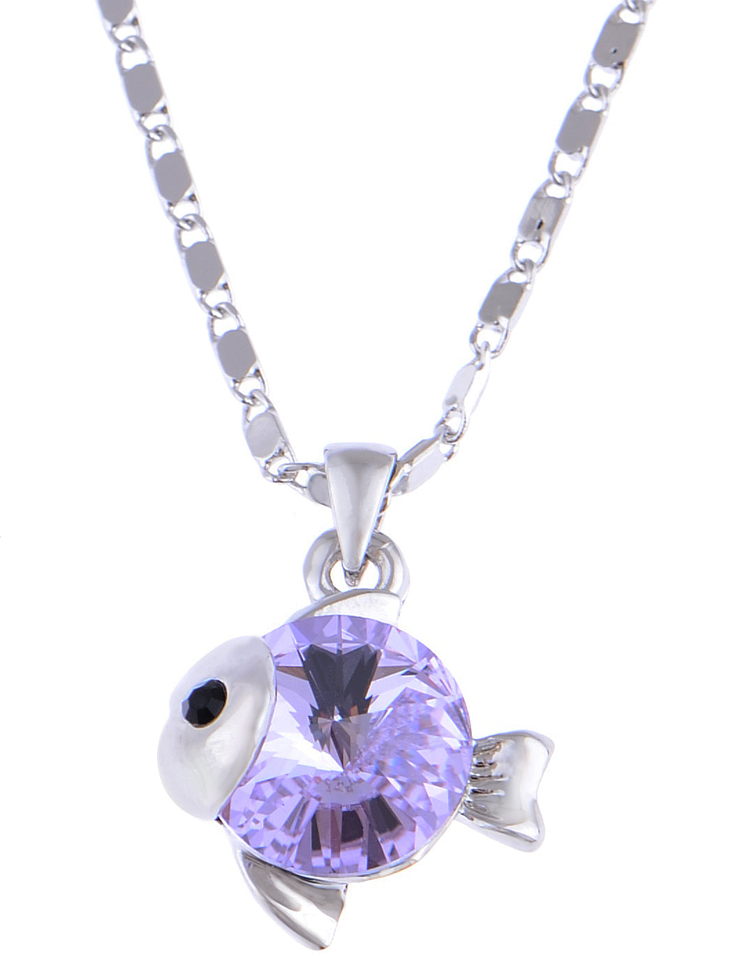 Swarovski Crystal Tanzanite Expressive Nemo Like Baby Fish Element Necklace
