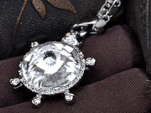 Load image into Gallery viewer, Swarovski Crystal Turtle Pendent Necklace