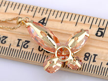Load image into Gallery viewer, Orange Asymmetrical Butterfly Sharp Big Wing Element Necklace