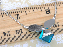 Load image into Gallery viewer, Indicolite Blue Cube Winged Pixie Spirit Element Necklace