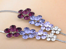 Load image into Gallery viewer, Amethyst Gradient Pearl Daisy Garden Row Element Necklace