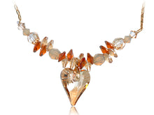 Load image into Gallery viewer, Indian Red Dangle Light Topaz Heart Necklace