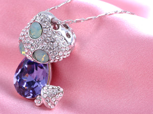 Tanzanite Dangle Pacific Opal Embellished Magical Mushrooms Necklace