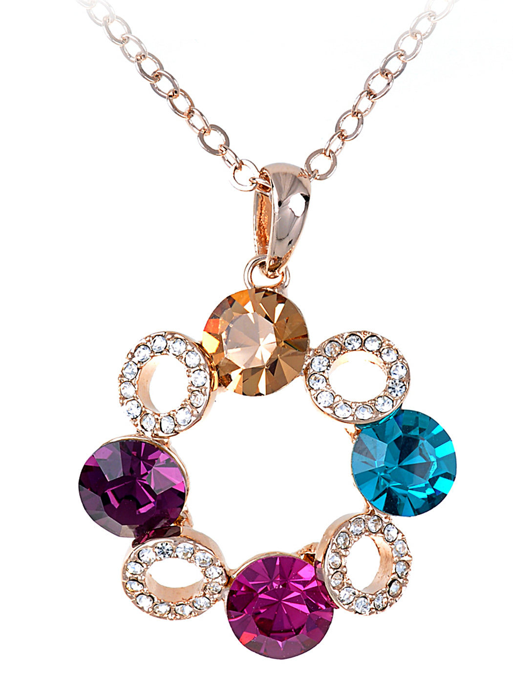 Elements Petite Four Holiday Wreath Pendant Necklace