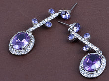 Load image into Gallery viewer, Elements Amethyst Victorian Drop Necklace Earring Set