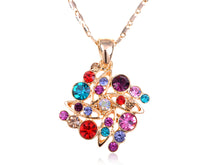 Load image into Gallery viewer, Swarovski Crystal Colorful Elements Square Shape Pendant Necklace