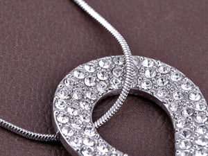 Swarovski Crystal Elements Infinity Teardrop Pendant Necklace