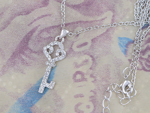 Swarovski Crystal Studded Key For Dreams Magic Delight Shimmer Necklace
