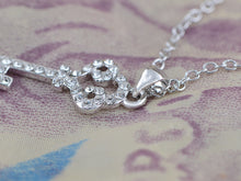 Load image into Gallery viewer, Swarovski Crystal Studded Key For Dreams Magic Delight Shimmer Necklace