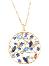 Load image into Gallery viewer, Swarovski Crystal Multicoloured Elements Web Of Magics Necklace