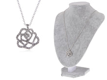 Load image into Gallery viewer, Swarovski Crystal Elements Rose Flower Manifest Love Necklace