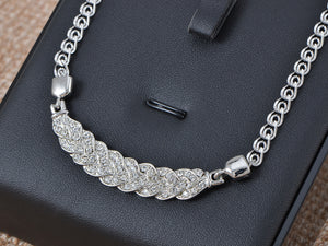 Swarovski Crystal Elements Leaf Euro Purity Chain Necklace