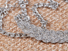 Load image into Gallery viewer, Swarovski Crystal Elements Leaf Euro Purity Chain Necklace