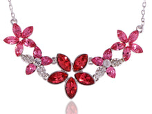 Load image into Gallery viewer, Swarovski Crystal Women's Fuchsia Elements Floral Necklace