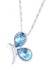 Load image into Gallery viewer, Swarovski Crystal Blue Elements Butterfly Anniversary Gift Pendant Necklace