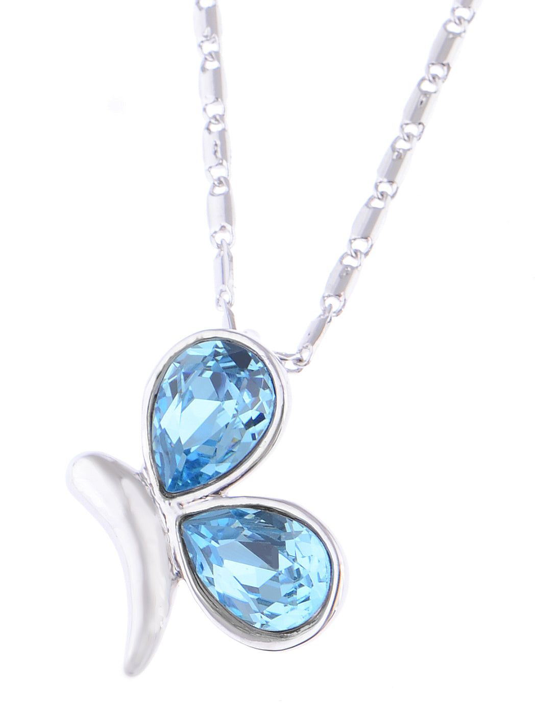 Swarovski Crystal Blue Elements Butterfly Anniversary Gift Pendant Necklace