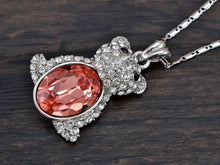 Load image into Gallery viewer, Swarovski Crystal Light Siam Bear Belly Honey Content Deious Glory Happy Time Necklace
