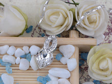 Load image into Gallery viewer, Swarovski Crystal Shadow Silver Elements Heart Necklace