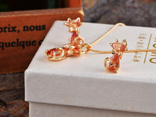 Load image into Gallery viewer, Elements Topaz Paris Cat Elegance Necklace Set