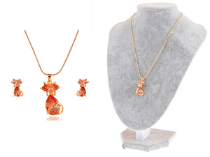 Elements Topaz Paris Cat Elegance Necklace Set
