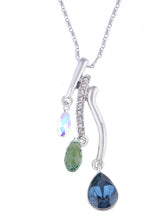 Load image into Gallery viewer, Swarovski Crystal Multicolor Trio Elements Pendant Teardrop Necklace