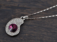 Load image into Gallery viewer, Swarovski Crystal Amethyst Elements Eggplant Center Necklace