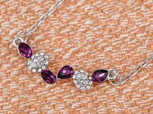 Load image into Gallery viewer, Swarovski Crystal Amethyst Elements Drops Through The Years Necklace