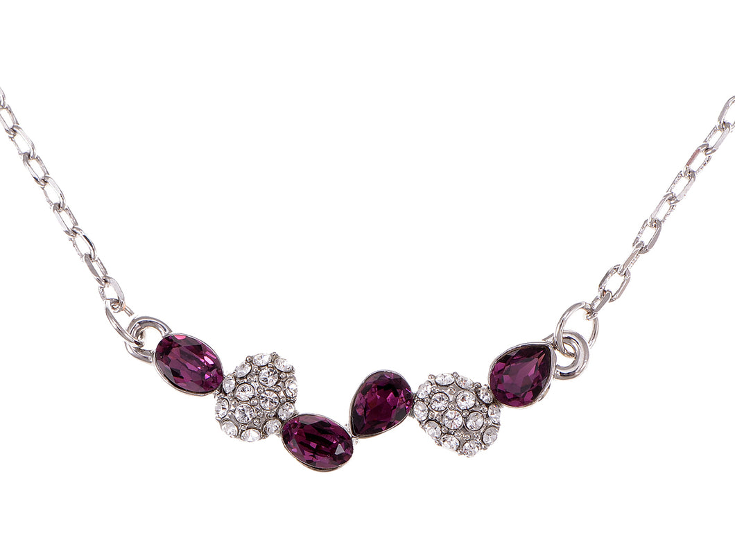 Swarovski Crystal Amethyst Elements Drops Through The Years Necklace