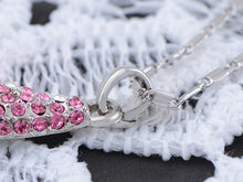 Load image into Gallery viewer, Swarovski Crystal Rose Fuchsia Elements Nature Husk Necklace