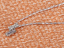 Load image into Gallery viewer, Swarovski Crystal Elements Silver Two Bars Esque Necklace