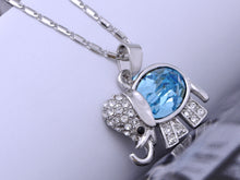 Load image into Gallery viewer, Elements Sapphire Studded Elephant Walks Necklace