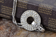 Load image into Gallery viewer, Swarovski Crystal Elements 1314 Classic Number Disc Charm Pendant Necklace