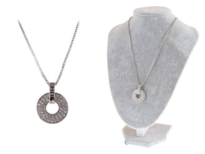 Swarovski Crystal Elements 1314 Classic Number Disc Charm Pendant Necklace