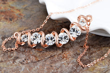 Load image into Gallery viewer, Swarovski Crystal Element Helix Swirl With Accents Necklace