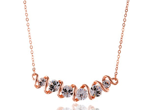 Swarovski Crystal Element Helix Swirl With Accents Necklace