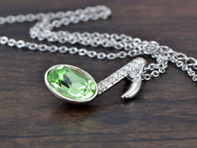 Load image into Gallery viewer, Swarovski Crystal Element Peridot Quaver Music Note Symbol Pendant