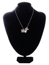 Load image into Gallery viewer, Swarovski Crystal Element Petite Light Colorado Topaz Two Daisy Flower Pendant