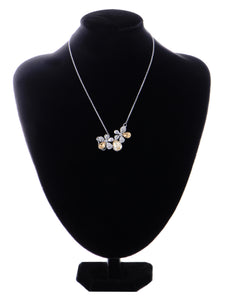 Swarovski Crystal Element Petite Light Colorado Topaz Two Daisy Flower Pendant