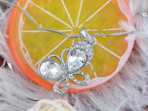 Swarovski Crystal Element Adorable Miniature Big Winged Butterfly Pendant