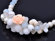 Load image into Gallery viewer, Cream White Rose Cluster Beads Eternal Love Milky Choker Necklace