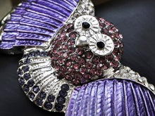 Load image into Gallery viewer, Owl Bird Bangle Cuff Bracelet