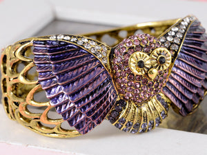 Owl Bird Bangle Cuff Bracelet