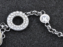 Load image into Gallery viewer, Swarovski Crystal Circle Petal Leaf Rolo Element Bracelet Bangle