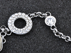 Swarovski Crystal Circle Petal Leaf Rolo Element Bracelet Bangle
