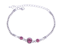 Load image into Gallery viewer, Swarovski Crystal Elements Fuchsia Plum Delight Glitter Bonanza Magic Bracelet