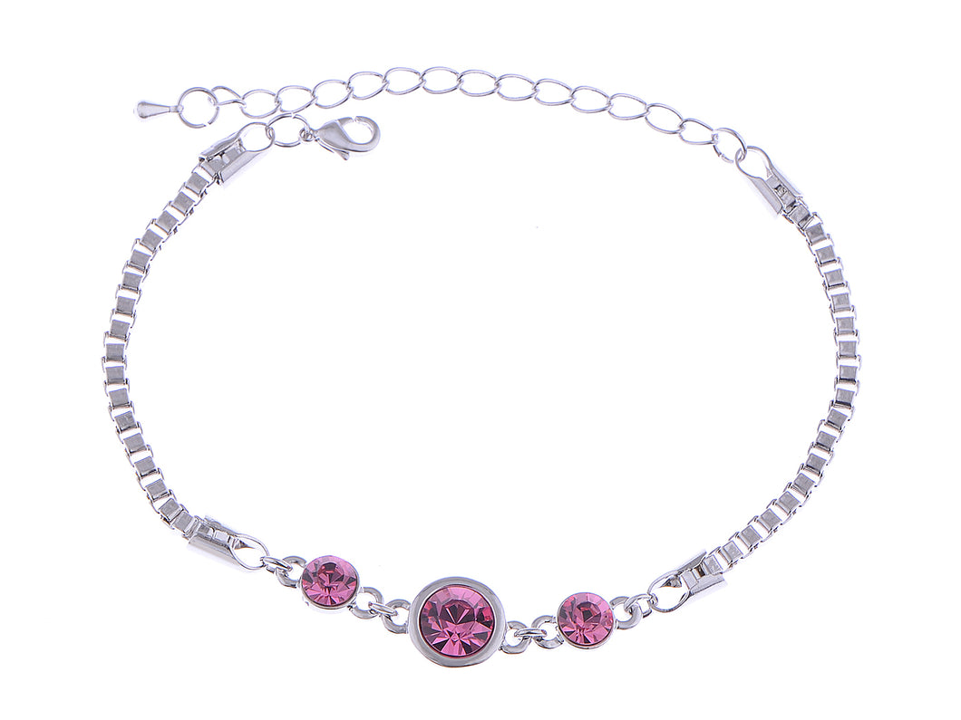 Swarovski Crystal Elements Fuchsia Plum Delight Glitter Bonanza Magic Bracelet