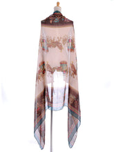 Load image into Gallery viewer, Vintage Victorian Retro Oversized Horse Carriage Scarf