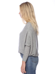 Off Shoulder Knit Batwing Sweater