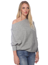 Load image into Gallery viewer, Off Shoulder Knit Batwing Sweater