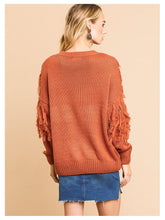Load image into Gallery viewer, Fringe Tassel Knit Sweater Top